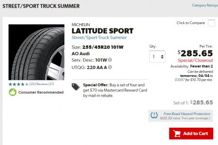 Michelin Latitude Sport Street Sport Truck_SUV Summer