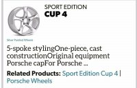 Sport Edition Cup 4 Wheels